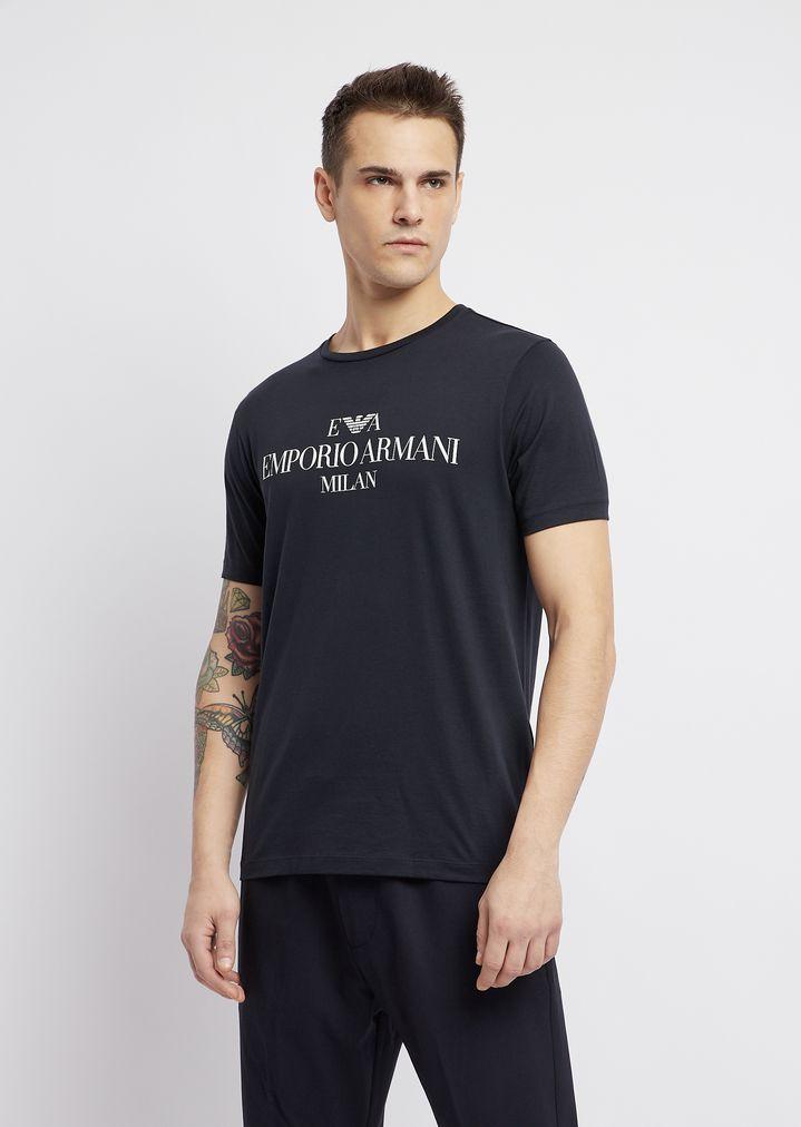 6d1684c6e25c T-shirt in pima cotton with logo print