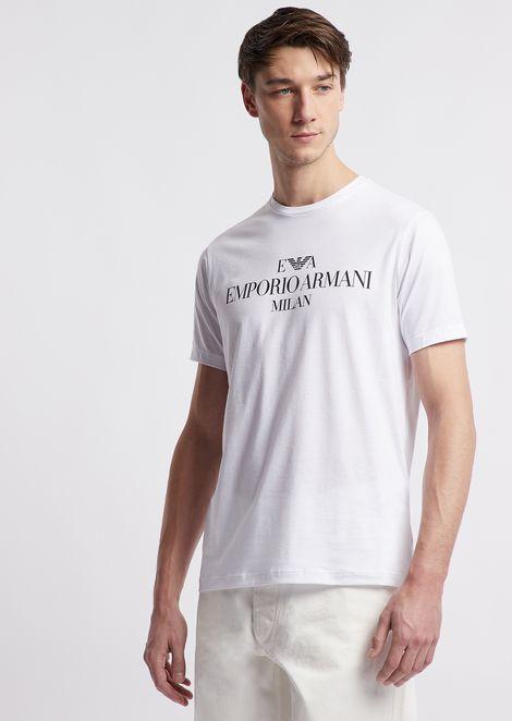 Tシャツ ピマコットン製 ロゴプリント
