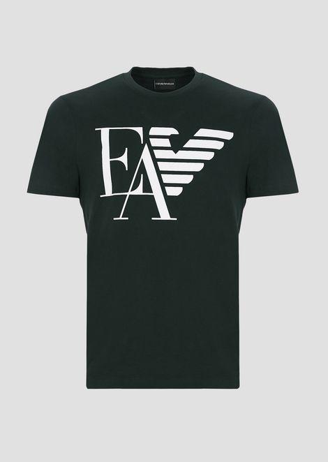 Camiseta de punto de algodón con estampado de logotipo