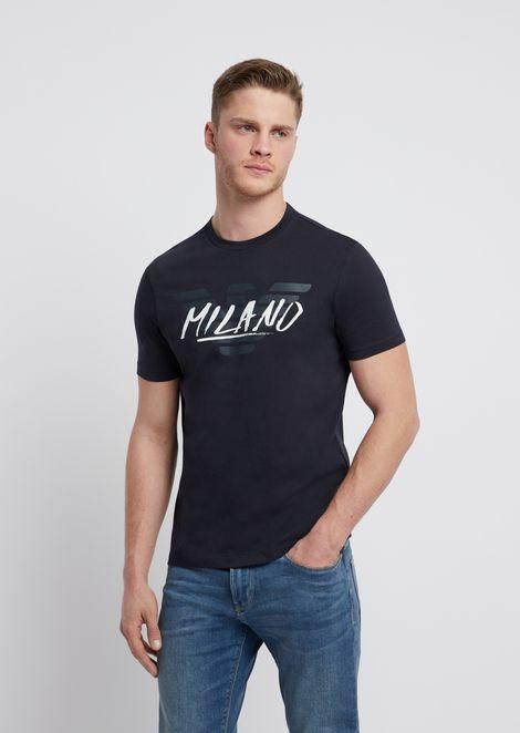 9e01e3a1f Cotton jersey T-shirt with logo and city print