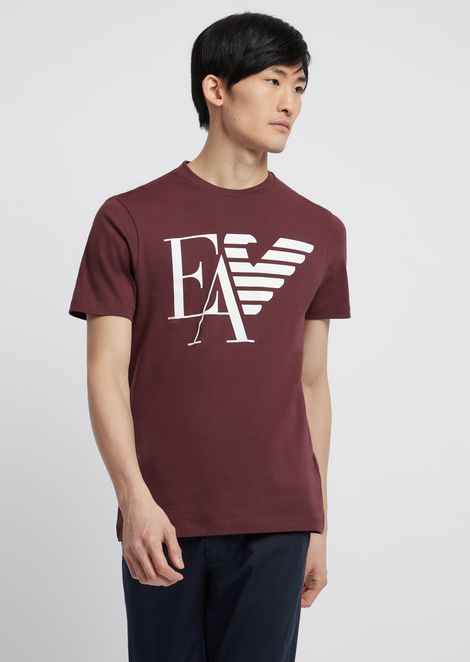 Cotton jersey T-shirt with logo print