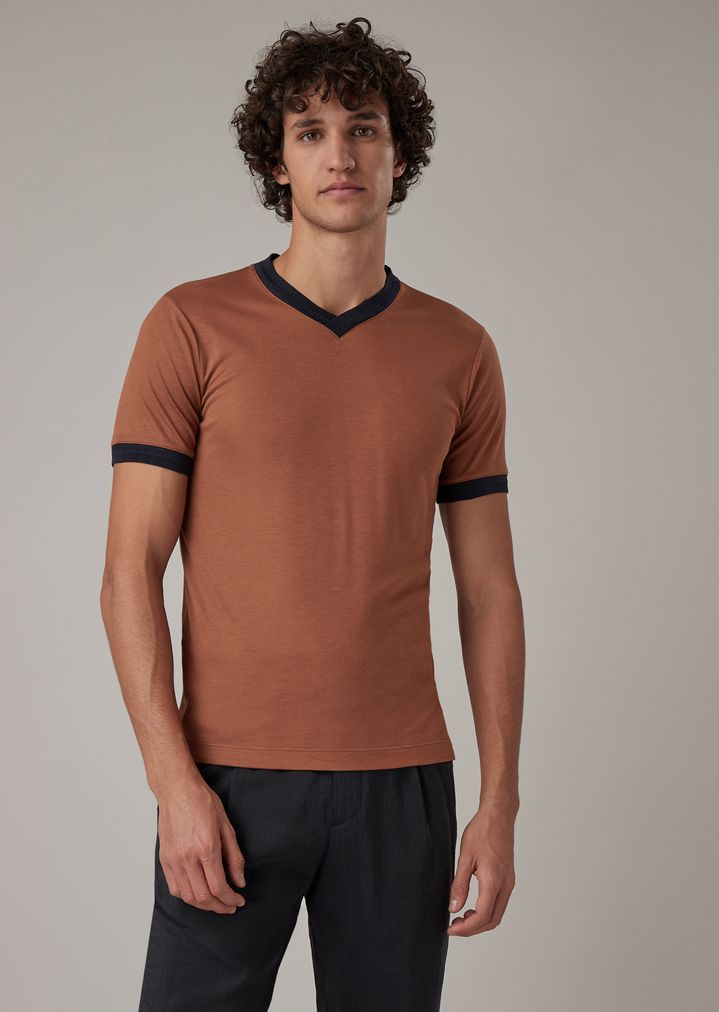viscosa Camiseta de de y seda jersey doBxWrCe