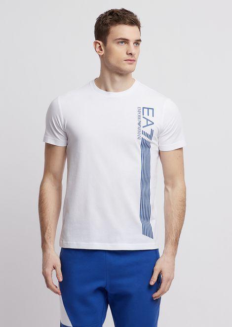 Camiseta de algodón puro Train 7Lines con estampado de logotipo