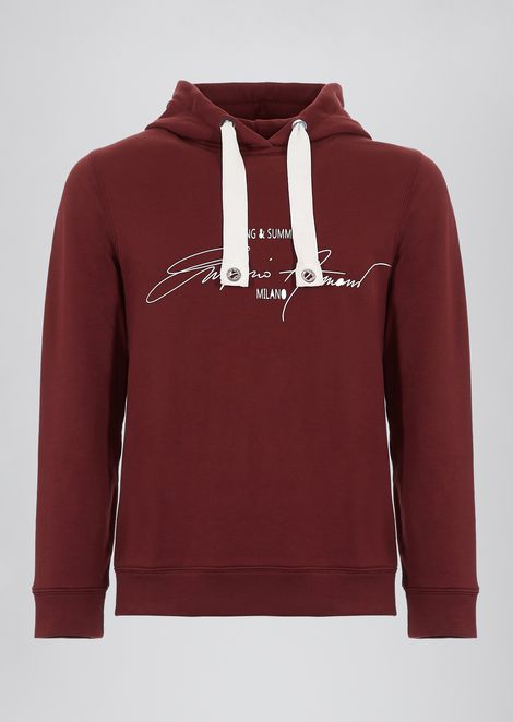 Sweatshirt in cotton French terry with branded signature