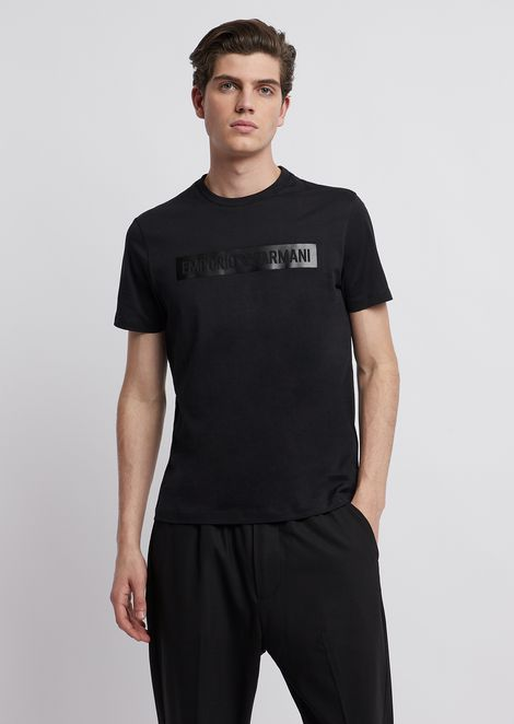 Jersey T-shirt with logo print