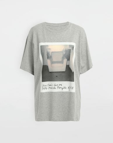 MM6 MAISON MARGIELA Polaroid chair printed T-shirt Short sleeve t-shirt [*** pickupInStoreShipping_info ***] f