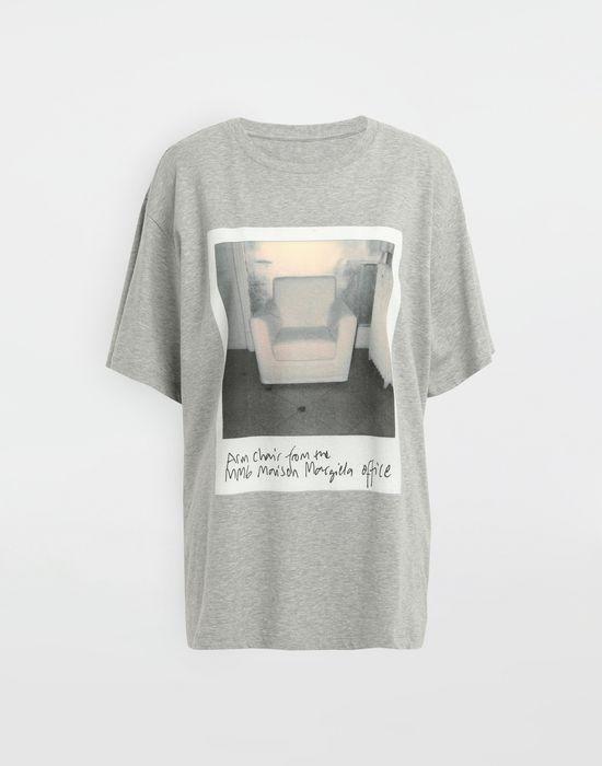 MM6 MAISON MARGIELA Polaroid chair printed T-shirt Short sleeve t-shirt [*** pickupInStoreShipping_info ***] f