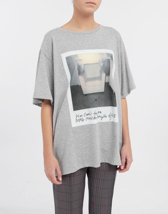 MM6 MAISON MARGIELA Polaroid chair printed T-shirt Short sleeve t-shirt [*** pickupInStoreShipping_info ***] r