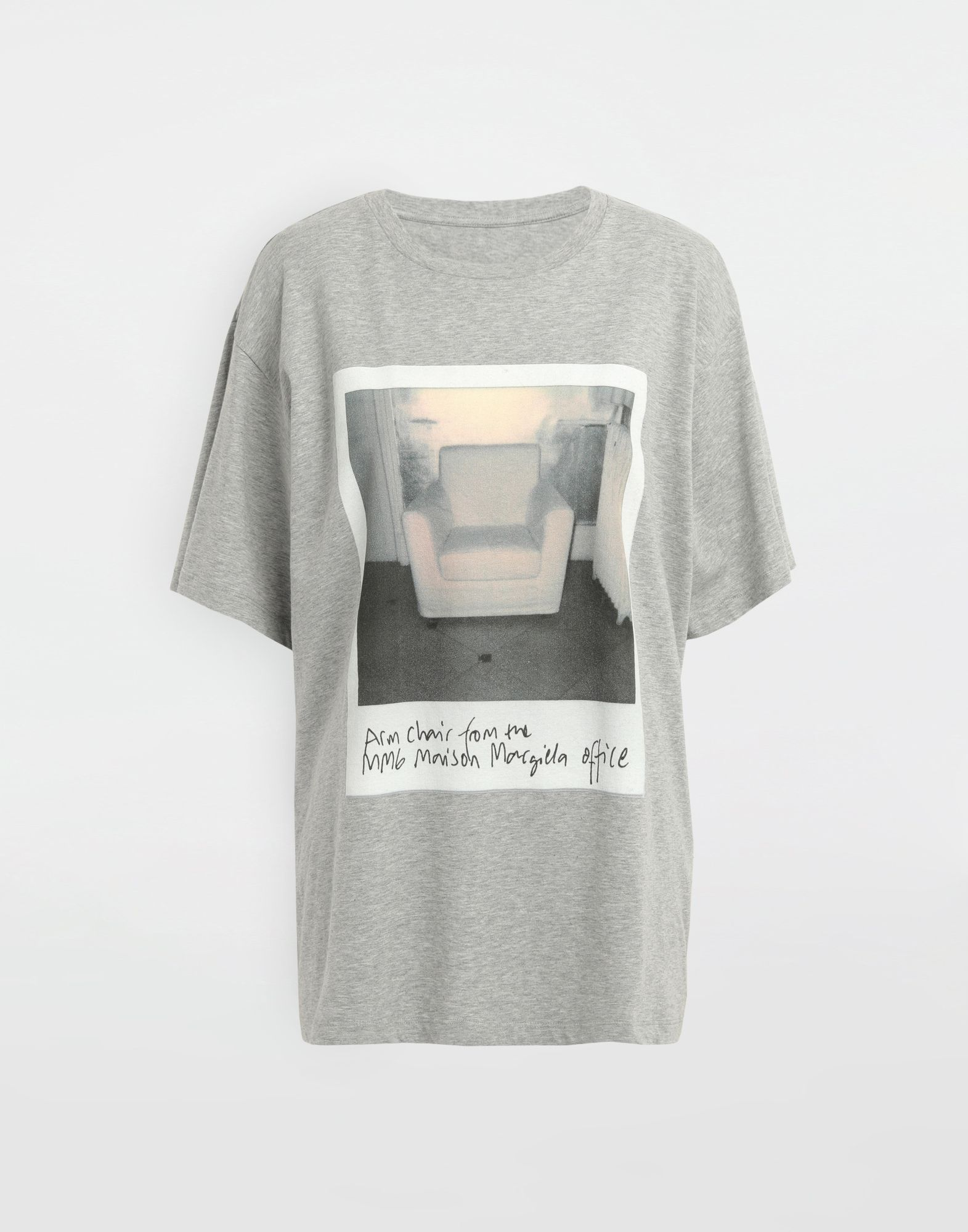 MM6 MAISON MARGIELA Polaroid chair printed T-shirt Short sleeve t-shirt Woman f