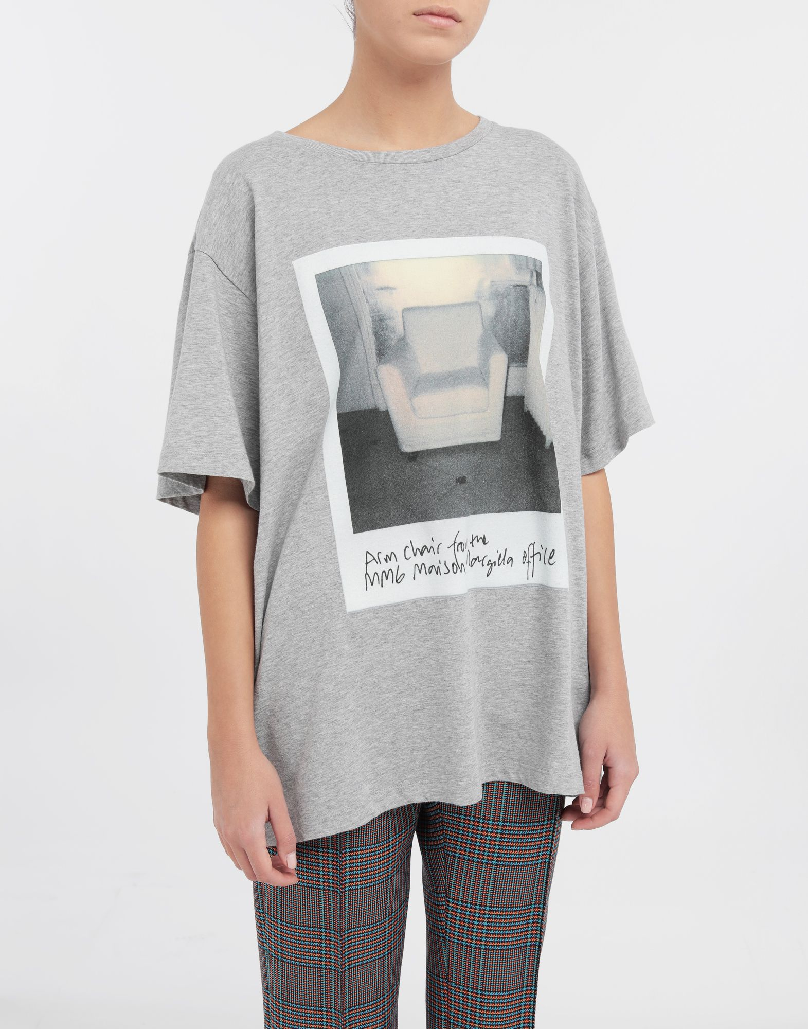 MM6 MAISON MARGIELA Polaroid chair printed T-shirt Short sleeve t-shirt Woman r