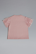 DSQUARED2 #Prom Lace Sleeves T-Shirt Short sleeve t-shirt Woman