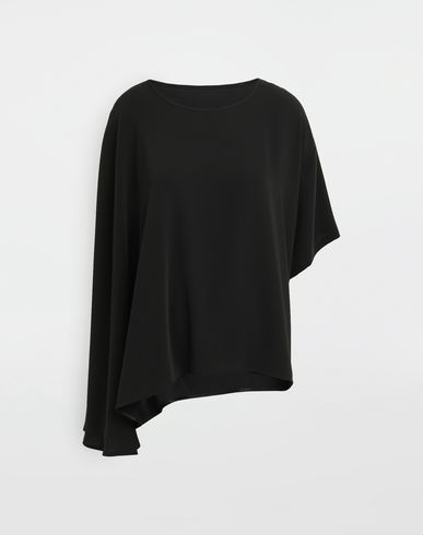 MM6 MAISON MARGIELA Asymmetrical jersey shirt Top [*** pickupInStoreShipping_info ***] f