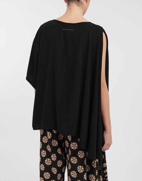 MM6 MAISON MARGIELA Asymmetrical jersey shirt Top [*** pickupInStoreShipping_info ***] e