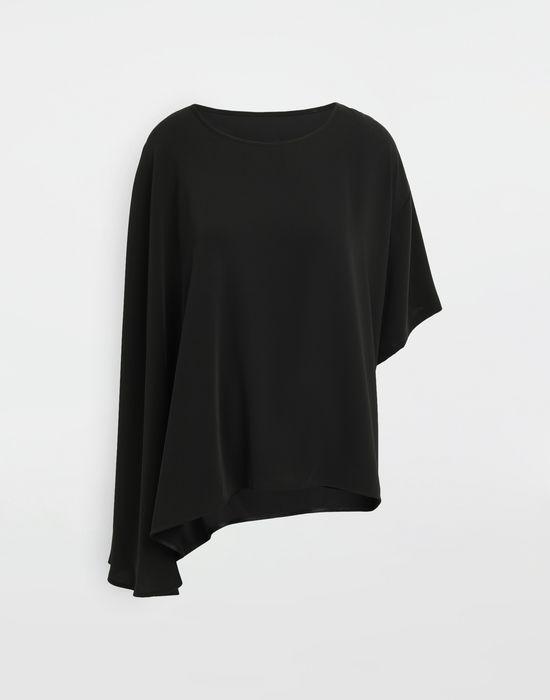 MM6 MAISON MARGIELA Asymmetrical jersey shirt Top [*** pickupInStoreShipping_info ***] f
