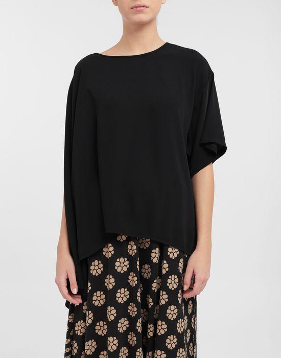 MM6 MAISON MARGIELA Asymmetrical jersey shirt Top [*** pickupInStoreShipping_info ***] r