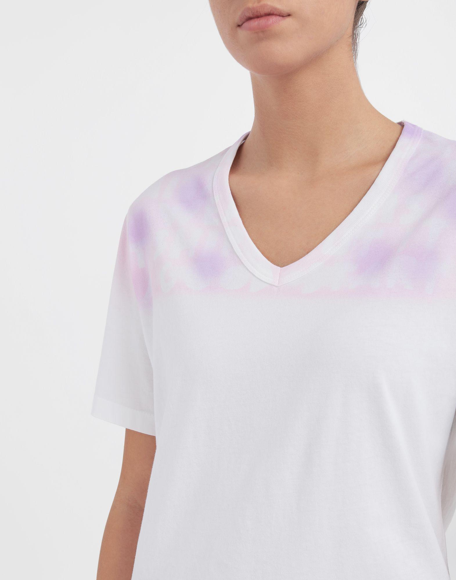 MM6 MAISON MARGIELA AIDS Charity tie-dye T-shirt Short sleeve t-shirt Woman a