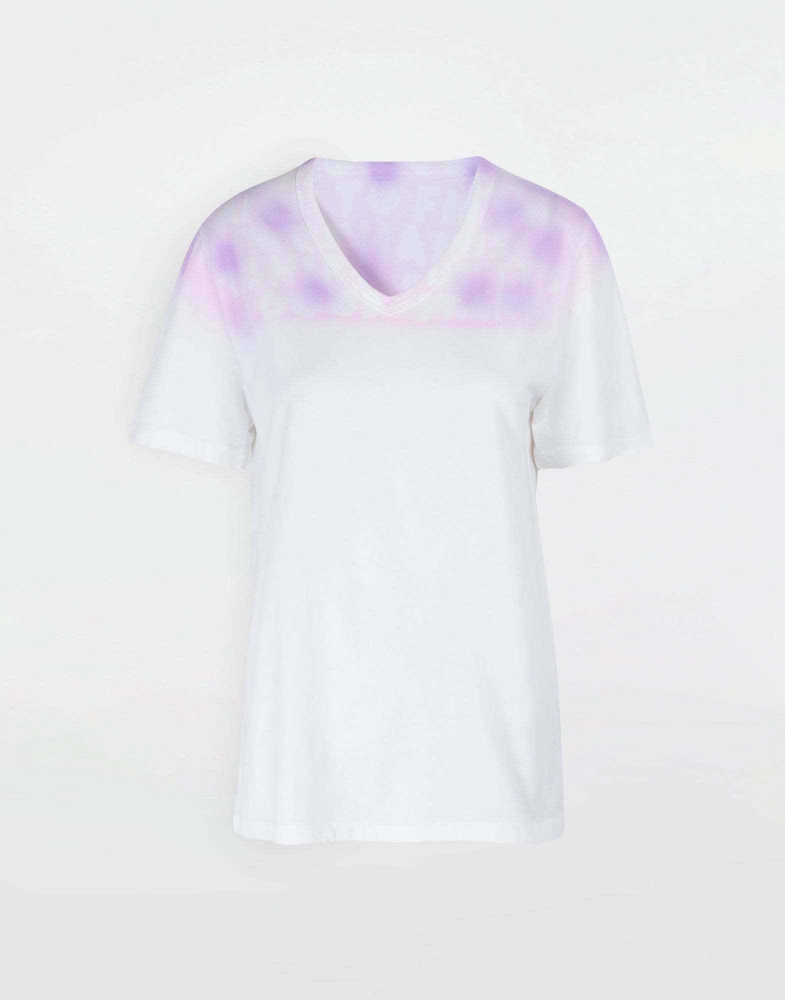 MM6 MAISON MARGIELA AIDS Charity tie-dye T-shirt Short sleeve t-shirt Woman f