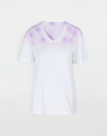 MM6 MAISON MARGIELA AIDS Charity tie-dye T-shirt Short sleeve t-shirt Woman f