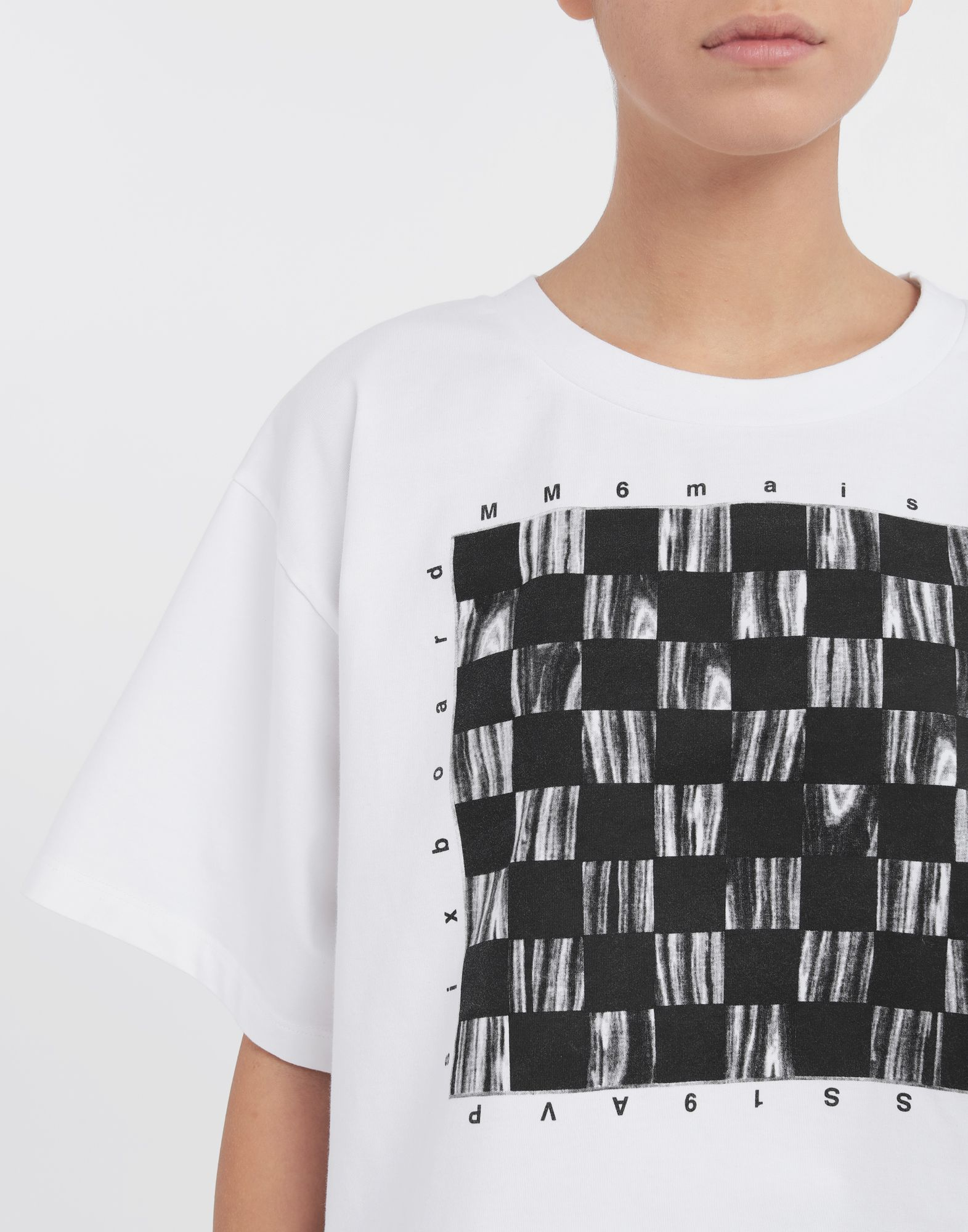 MM6 MAISON MARGIELA Board games print T-shirt Short sleeve t-shirt Woman a