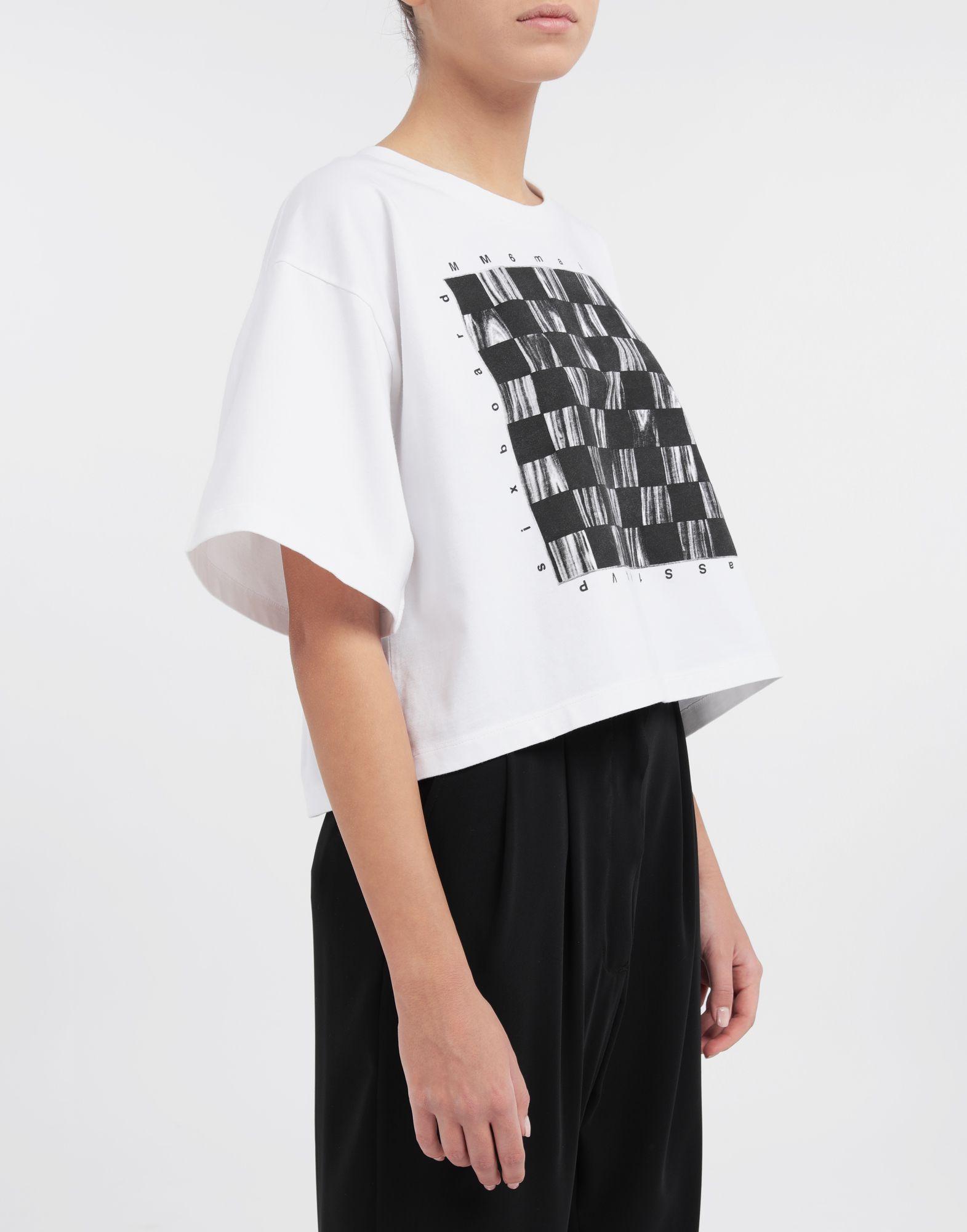 MM6 MAISON MARGIELA Board games print T-shirt Short sleeve t-shirt Woman b
