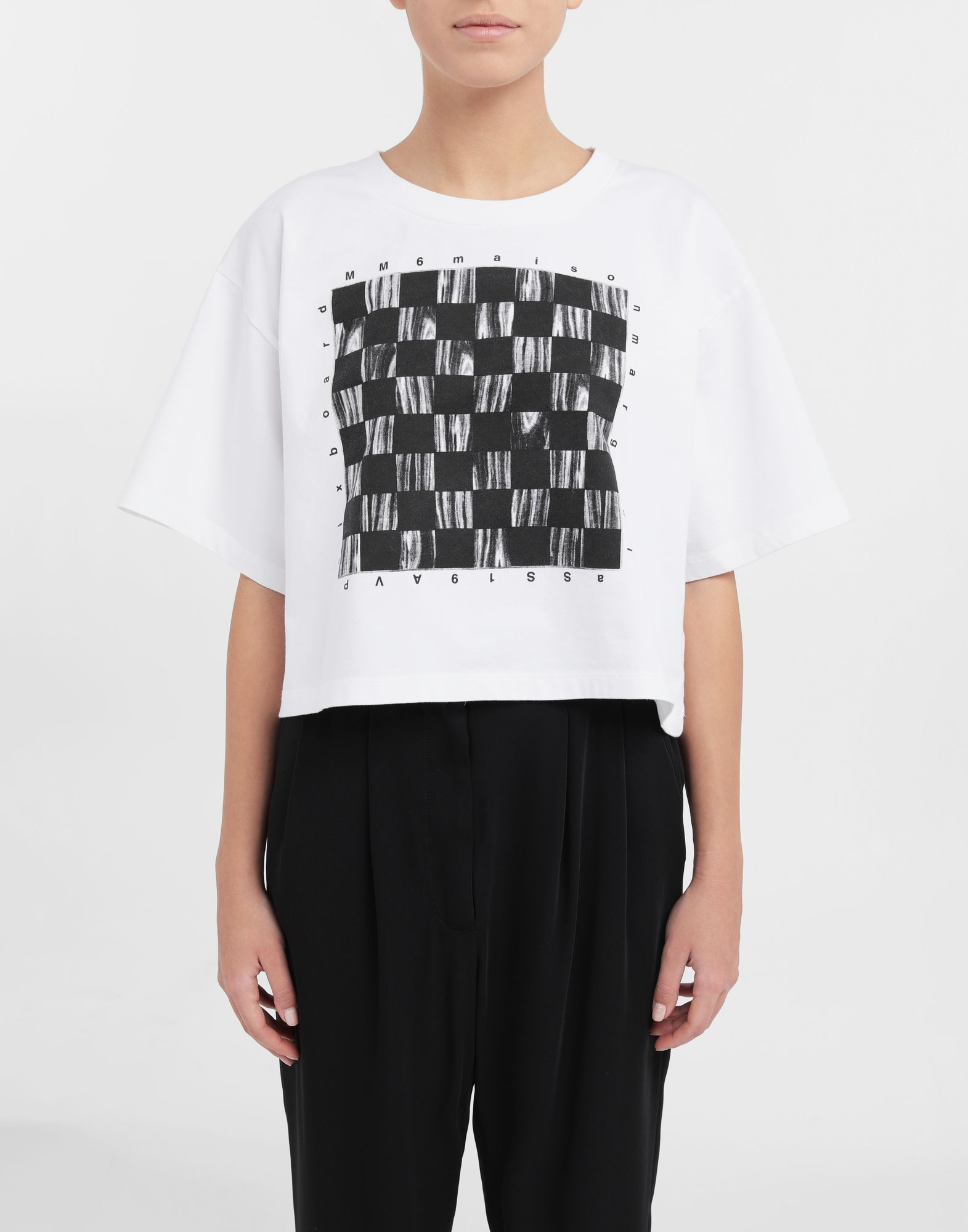 MM6 MAISON MARGIELA Board games print T-shirt Short sleeve t-shirt Woman r