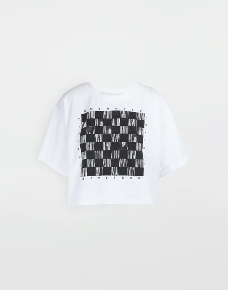MM6 MAISON MARGIELA Board games print T-shirt Short sleeve t-shirt Woman f