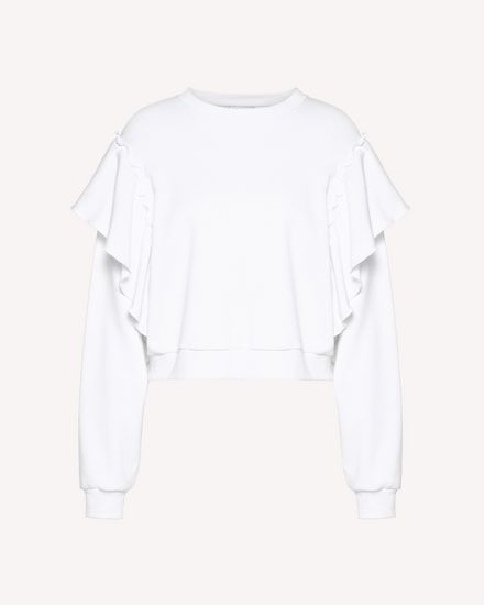 Ruffles detail sweatshirt