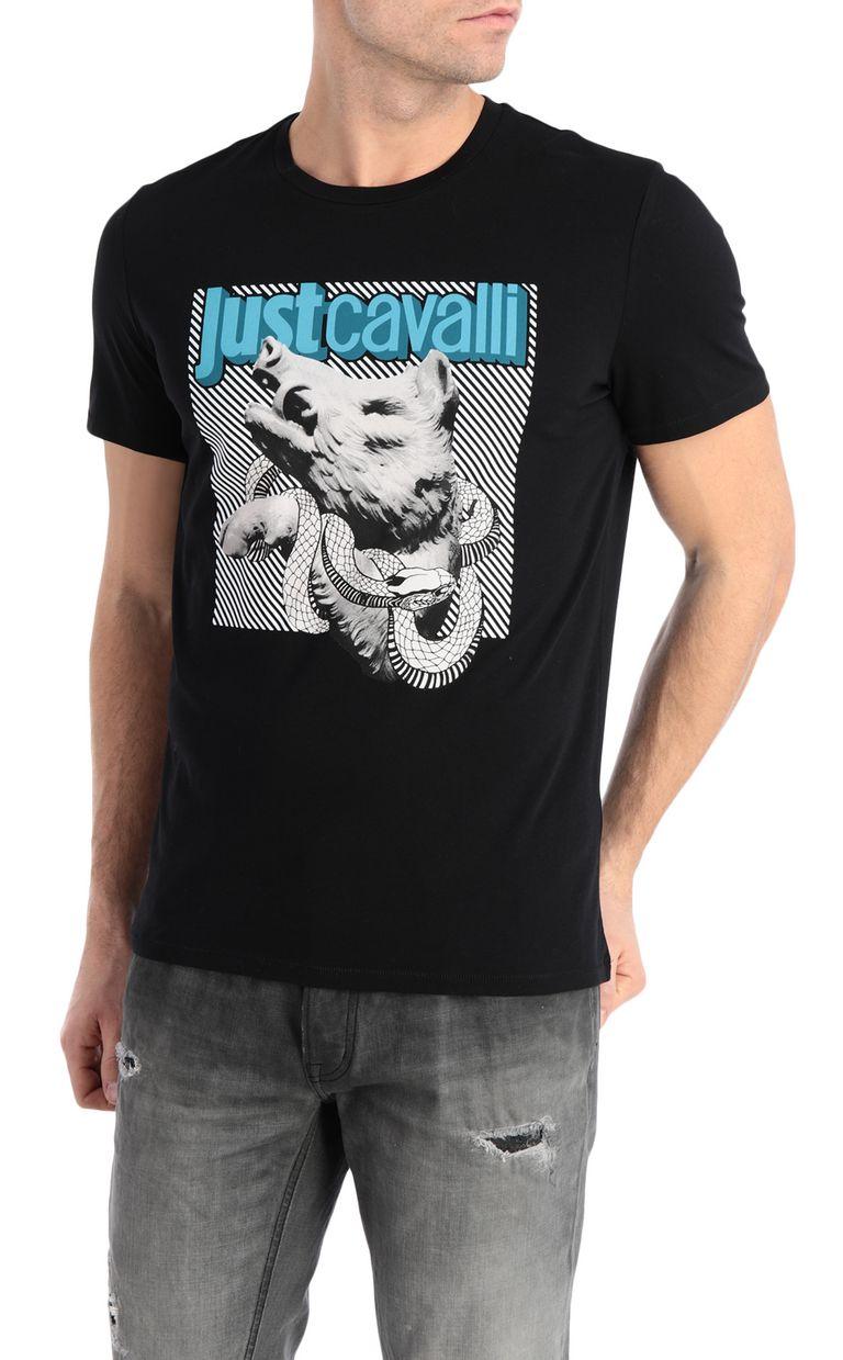 JUST CAVALLI T-shirt with boar print Short sleeve t-shirt Man f