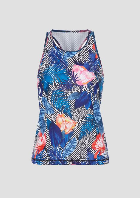 Ventus7 technical fabric top with floral print