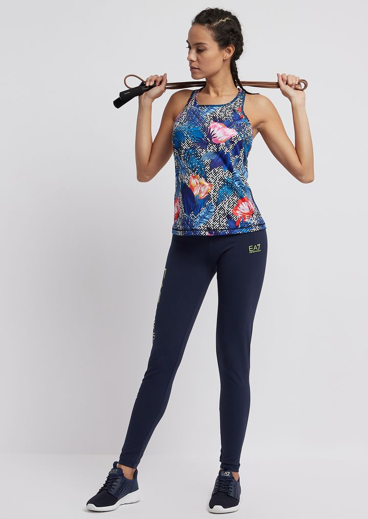 f442fe9aec Ventus7 technical fabric top with floral print
