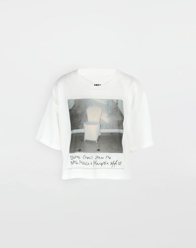 MM6 MAISON MARGIELA Short sleeve t-shirt [*** pickupInStoreShipping_info ***] Polaroid chair printed T-shirt f