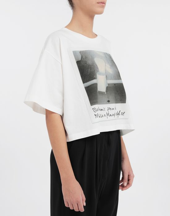 MM6 MAISON MARGIELA Polaroid chair printed T-shirt Short sleeve t-shirt [*** pickupInStoreShipping_info ***] b