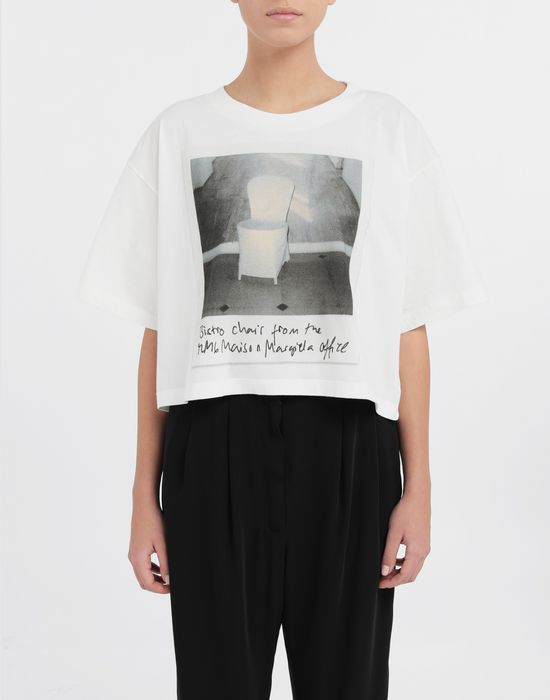 MM6 MAISON MARGIELA Polaroid chair printed T-shirt Short sleeve t-shirt [*** pickupInStoreShipping_info ***] r