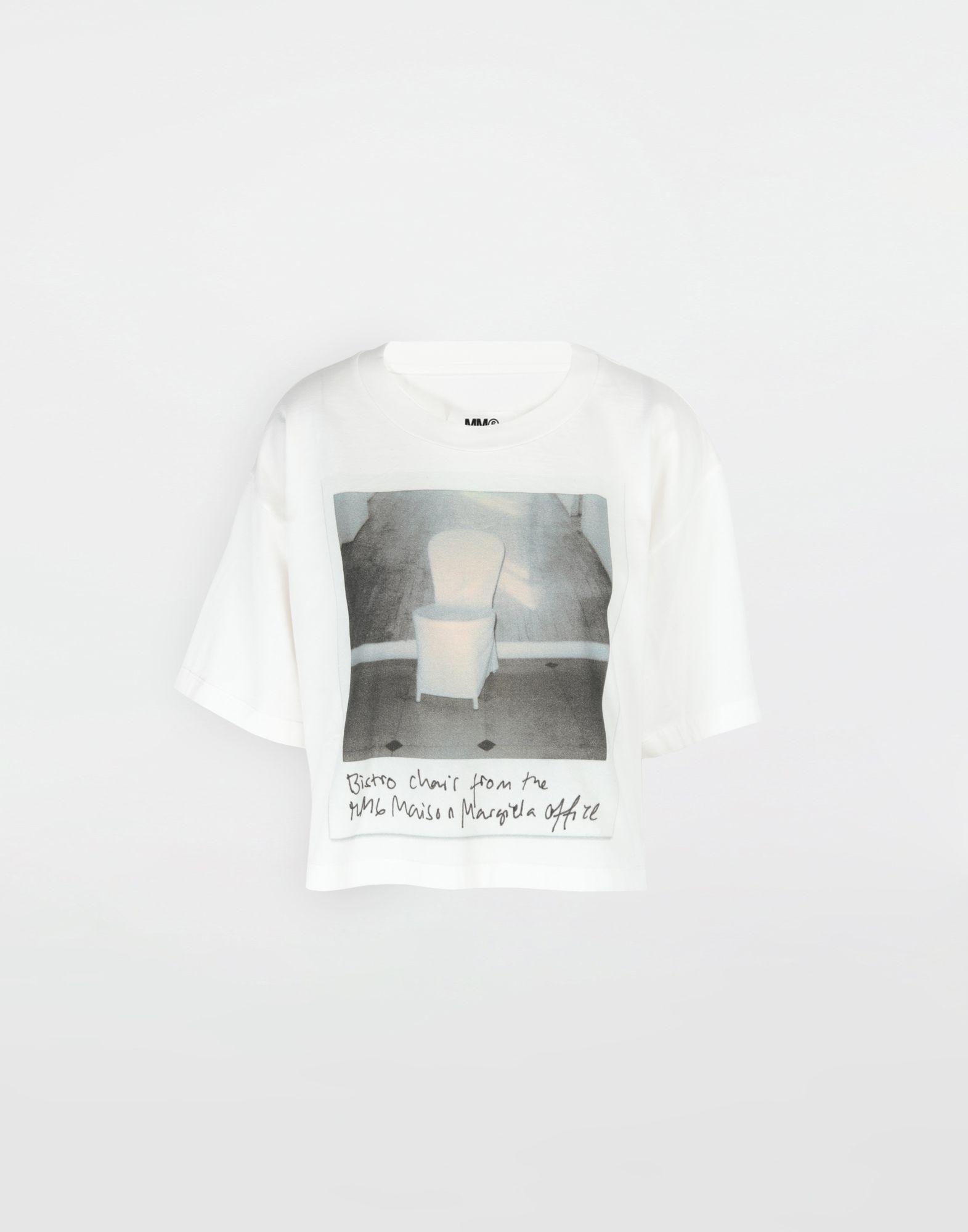MM6 MAISON MARGIELA Polaroid chair printed T-shirt Short sleeve t-shirt Woman f