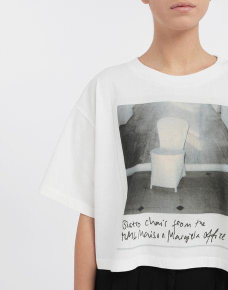 MM6 MAISON MARGIELA Polaroid chair printed T-shirt Short sleeve t-shirt Woman a