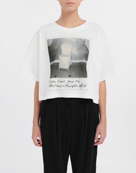 MM6 MAISON MARGIELA Polaroid chair printed T-shirt Short sleeve t-shirt Woman r
