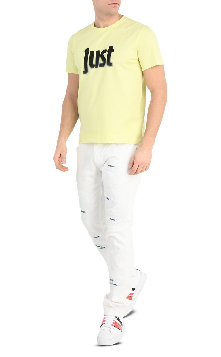 JUST CAVALLI T-shirt with logo print Short sleeve t-shirt Man d