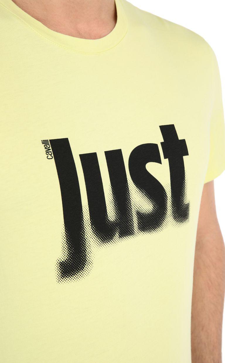 JUST CAVALLI T-shirt with logo print Short sleeve t-shirt Man e
