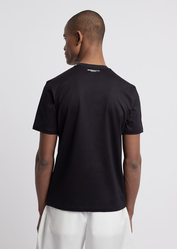 0158d942f1 R-EA-MIX T-shirt with rubberised maxi-logo