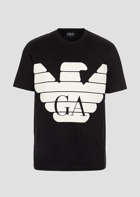 R-EA-MIX T-shirt with rubberized maxi logo