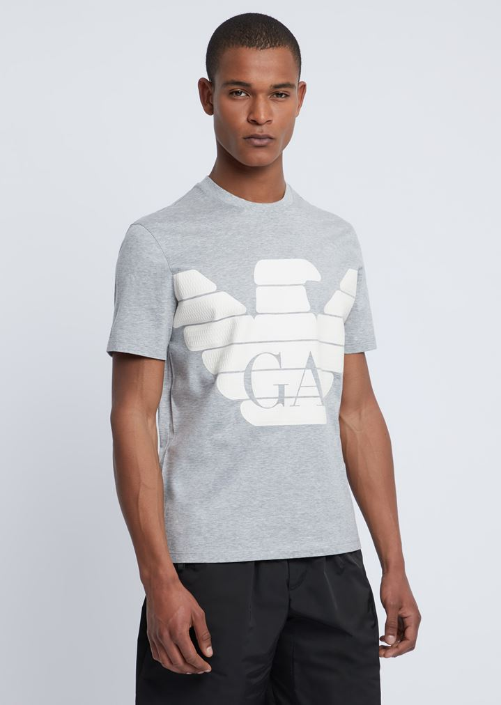 c4ac280619 R-EA-MIX T-shirt with rubberized maxi logo