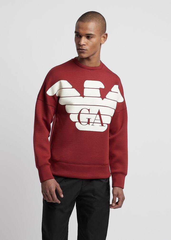 2924bccadd R-EA-MIX sweatshirt in lightweight scuba fabric
