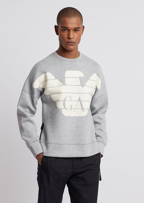 R-EA-MIX sweatshirt in lightweight scuba fabric