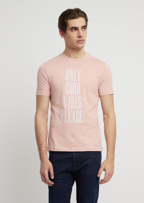Cotton jersey T-shirt with statement print