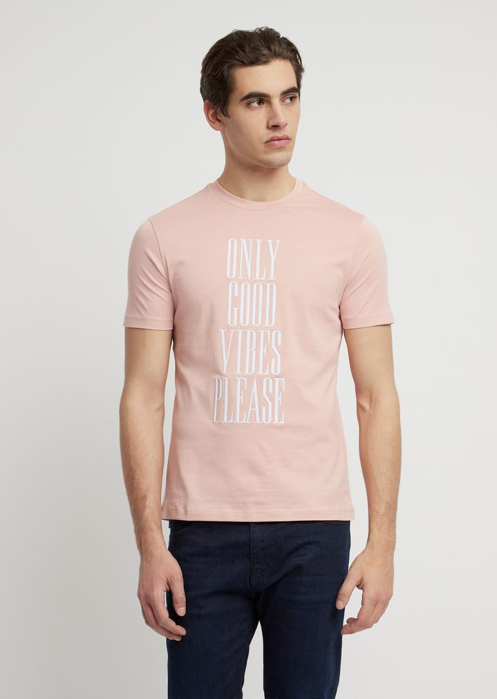 cae7127abb Cotton jersey T-shirt with statement print