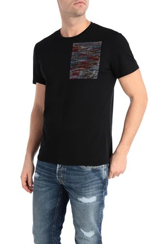 T-shirt with glitch print