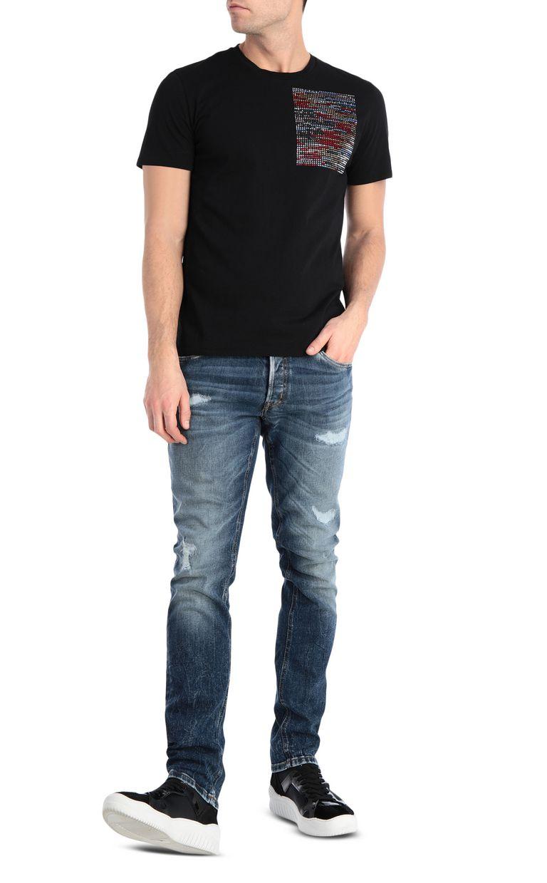 JUST CAVALLI T-shirt stampa glitch T-shirt maniche corte Uomo d
