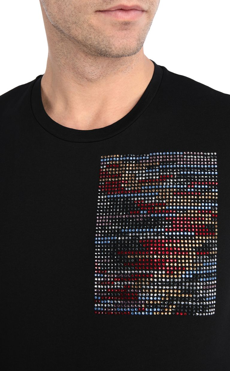 JUST CAVALLI T-shirt stampa glitch T-shirt maniche corte Uomo e
