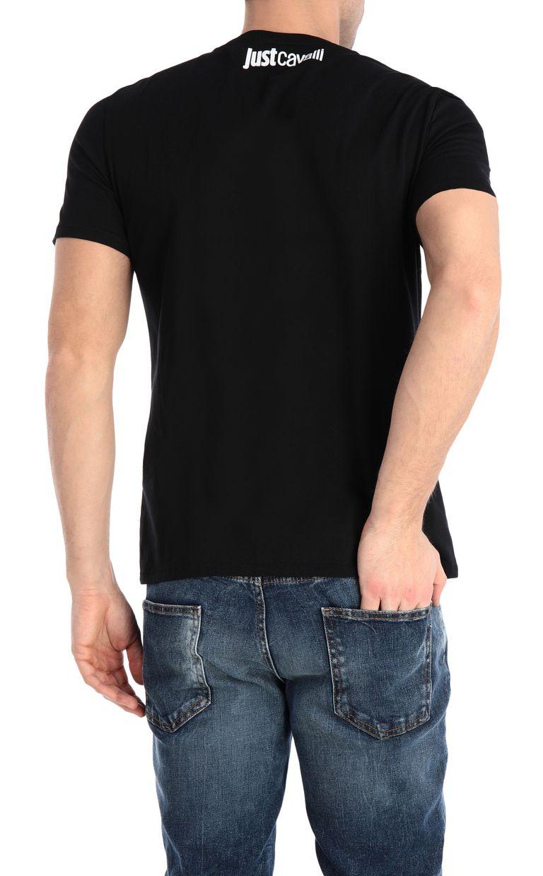 JUST CAVALLI T-shirt stampa glitch T-shirt maniche corte Uomo r