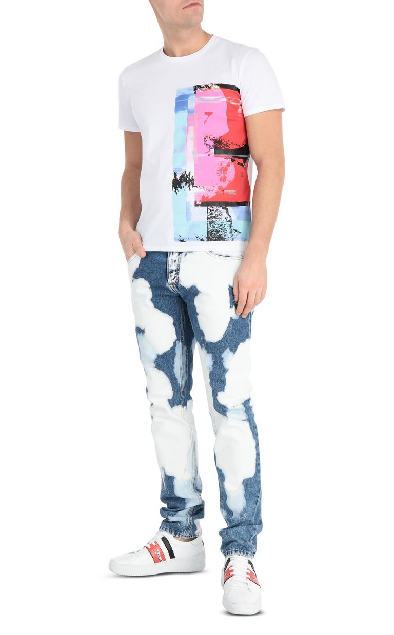 JUST CAVALLI T-shirt with glitch print Short sleeve t-shirt Man d